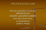 Professionalism 2016